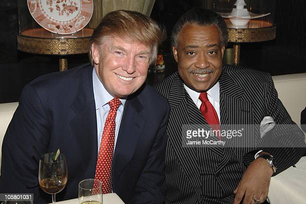 Donald Trump and Rev Al Sharpton during Grand Opening of Megu Midtown at Trump World Towers at Megu Midtown at Trump World Towers in New York City...