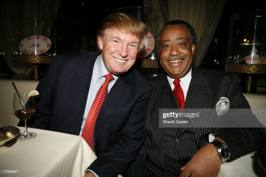 Donald Trump and Rev. Al Sharpton during Grand Opening of Megu Midtown at Trump World Towers at Trump World Towers in New York, NY, United States.