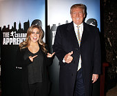 Donald Trump and Shawn Johnson attend 'Celebrity Apprentice' Red Carpet Event at Trump Tower on January 20 2015 in New York City