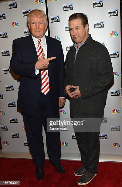 Donald Trump and Stephen Baldwin attend the 'AllStar Celebrity Apprentice' Red Carpet Event at Trump Tower on April 16 2013 in New York City