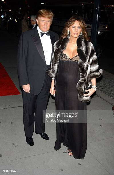 Donald Trump and wife Melania Trump arrive for the Fashion Group International's 22nd Annual 'Night Of Stars' at Cipriani's 42nd Street October 27...