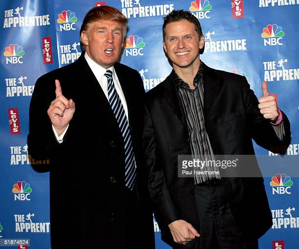 Donald Trump and winner Kelly Perdew attend the after party for the final episode of 'The Apprentice 2' at the Roseland Ballroom December 16 2004 in...