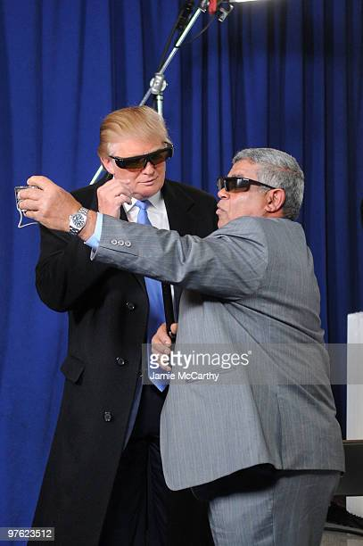 Donald Trump and Yehya attend the Samsung 3D LED TV launch party with THE BLACK EYED PEAS at Time Warner Center on March 10 2010 in New York City