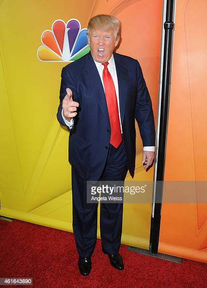 Donald Trump arrives at NBCUniversal's 2015 Winter TCA Tour Day 2 at ...