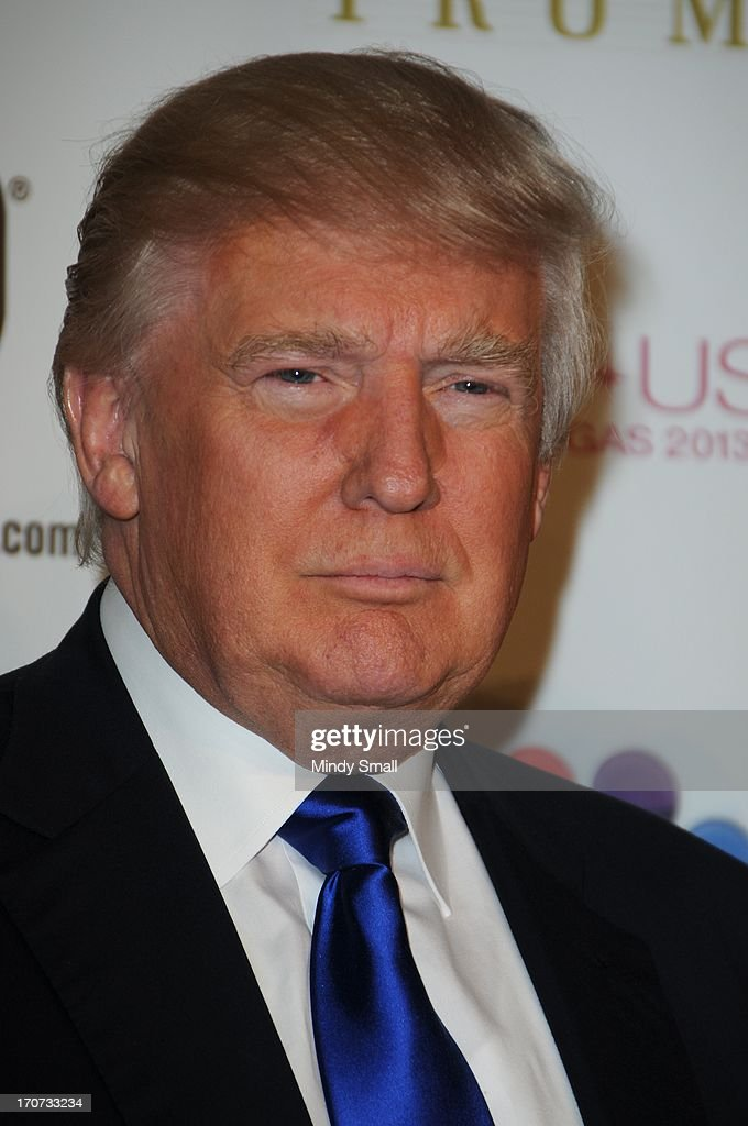 <a gi-track='captionPersonalityLinkClicked' href=/galleries/search?phrase=Donald+Trump+-+Born+1946&family=editorial&specificpeople=118600 ng-click='$event.stopPropagation()'>Donald Trump</a> arrives at the 2013 Miss USA pageant at Planet Hollywood Resort & Casino on June 16, 2013 in Las Vegas, Nevada.