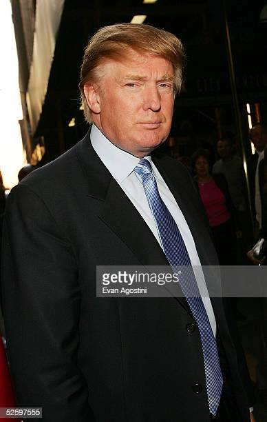 Donald Trump arrives at the Martha Graham Dance Company opening night gala at New York City Center on April 6 2005 in New York City