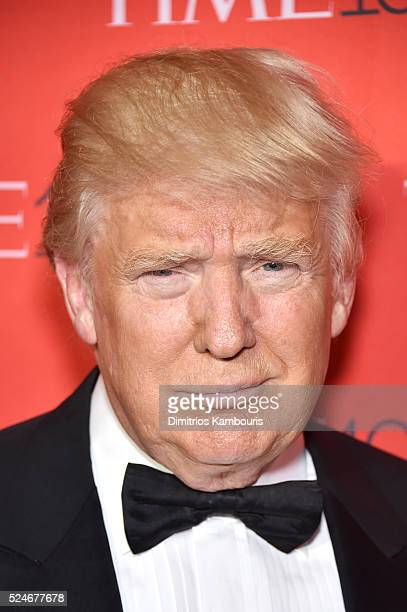 Donald Trump attends 2016 Time 100 Gala Time's Most Influential People In The World red carpet at Jazz At Lincoln Center at the Times Warner Center...