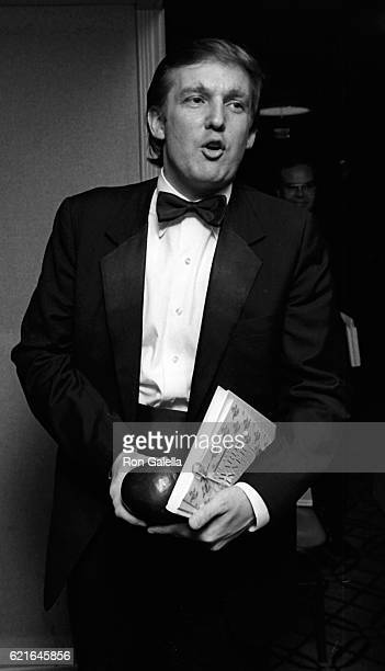 Donald Trump attends 38th Annual Horatio Alger Awards Dinner on May 10 1985 at the Waldorf Hotel in New York City