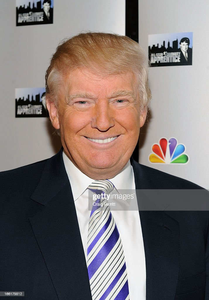 Donald Trump attends 'Celebrity Apprentice All-Star' event at Trump Tower on April 9, 2013 in New York City.