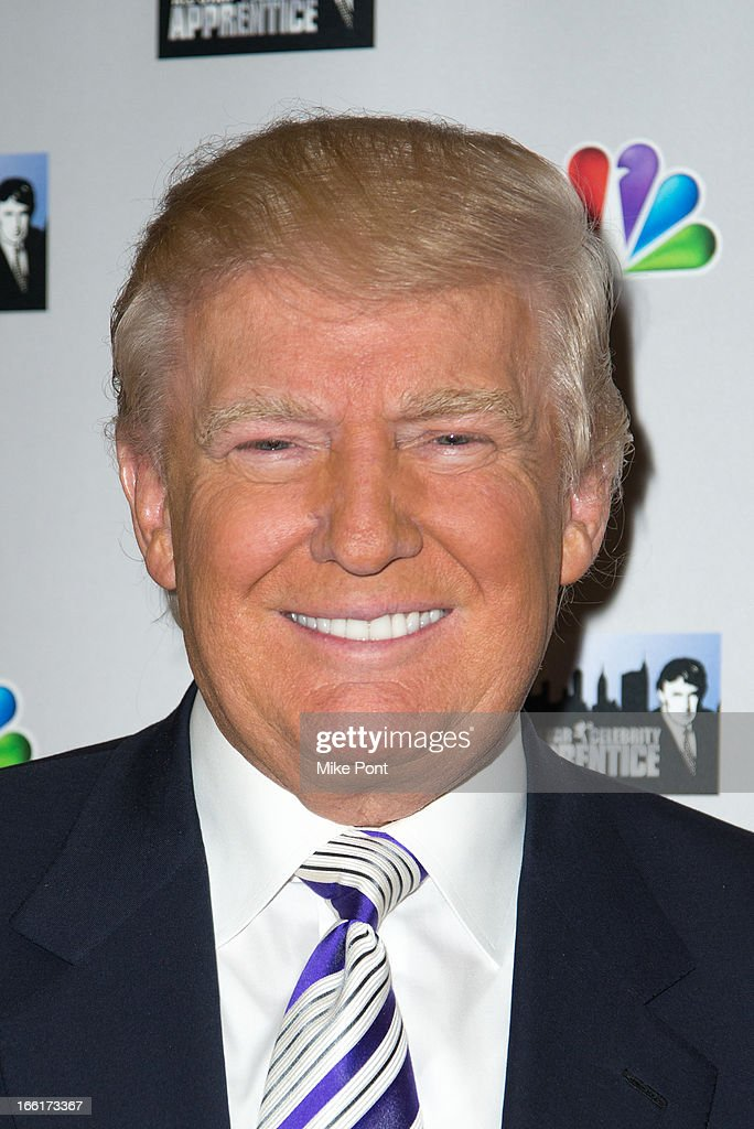 <a gi-track='captionPersonalityLinkClicked' href=/galleries/search?phrase=Donald+Trump+-+Born+1946&family=editorial&specificpeople=118600 ng-click='$event.stopPropagation()'>Donald Trump</a> attends 'Celebrity Apprentice All-Star Event With Donald and Melania Trump' at Trump Tower on April 9, 2013 in New York City.