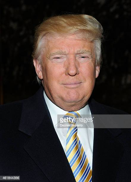 Donald Trump attends 'Celebrity Apprentice' Red Carpet Event at Trump Tower on January 20 2015 in New York City
