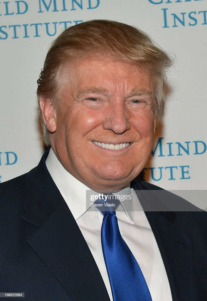 Donald Trump attends Child Mind Institute's 3rd Annual Child Advocacy Award Dinner at Cipriani 42nd Street on December 12, 2012 in New York City.