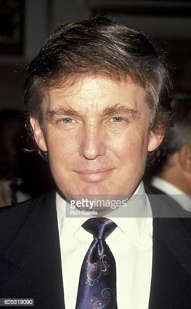 Donald Trump attends Friends of Queen Catherine of Braganza Benefit on October 9 1990 at the Plaza Hotel in New York City