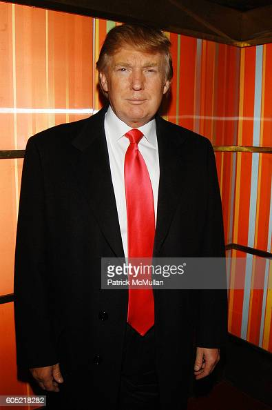 Donald Trump attends Joonbug hosts the launch of GoTrumpcom sponsored by Blue Star Jets at Marquee NYC USA on January 24 2006
