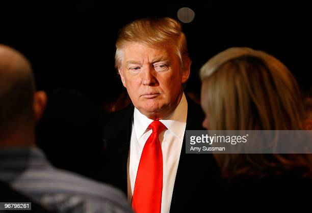 Donald Trump attends Mercedes Benz Fashion Week presented by Tetra Pak ONE at Bryant Park on February 17 2010 in New York New York