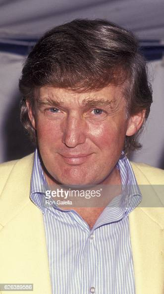 Donald Trump attends Pathmark Tennis Championship on July 20 1991 at Ramapo College in Mahwah New Jersey