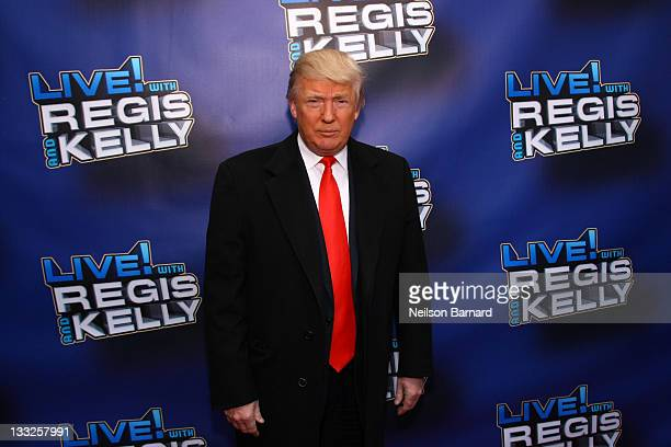Donald Trump attends Regis Philbin's Final Show of 'Live with Regis Kelly' at the Live with Regis Kelly Studio on November 18 2011 in New York New...