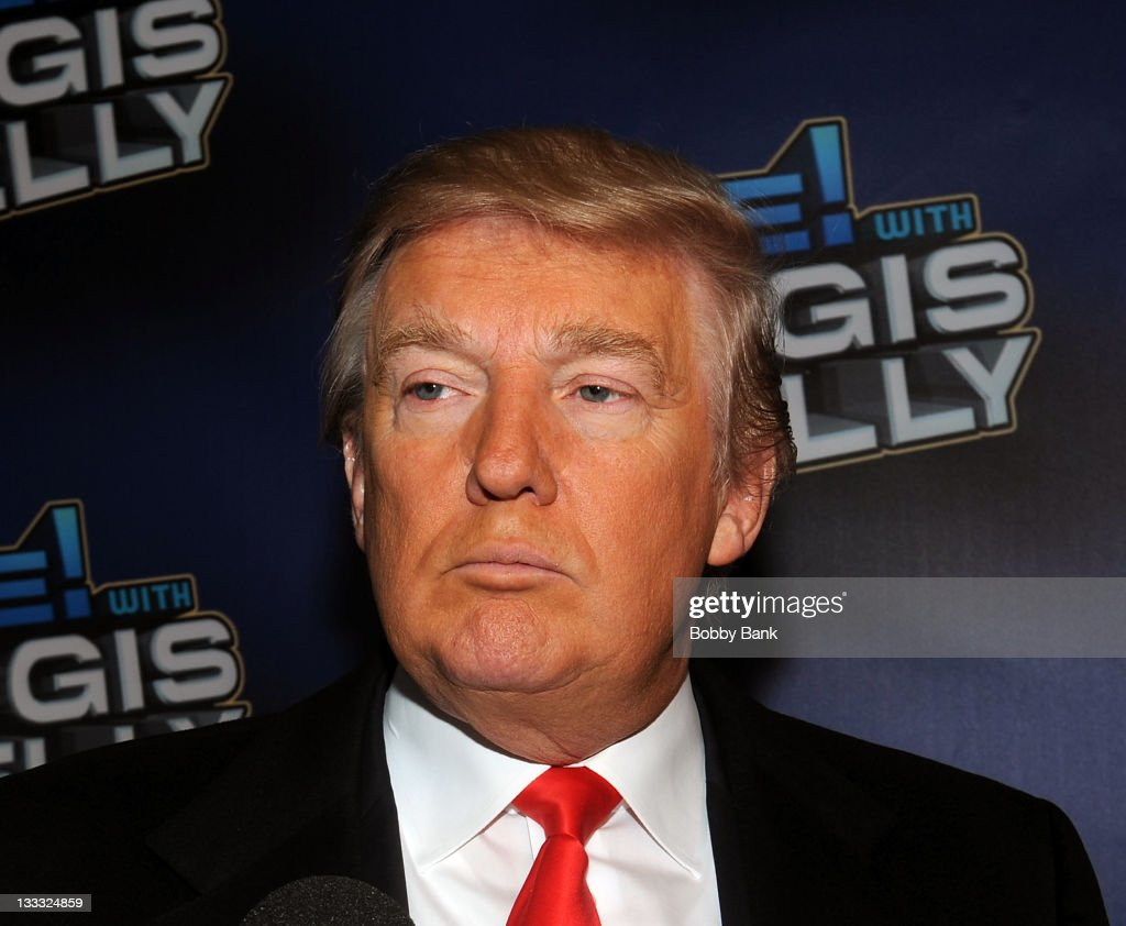 <a gi-track='captionPersonalityLinkClicked' href=/galleries/search?phrase=Donald+Trump+-+Born+1946&family=editorial&specificpeople=118600 ng-click='$event.stopPropagation()'>Donald Trump</a> attends Regis Philbin's Final Show of 'Live! with Regis & Kelly' at the Live with Regis & Kelly Studio on November 18, 2011 in New York New York.