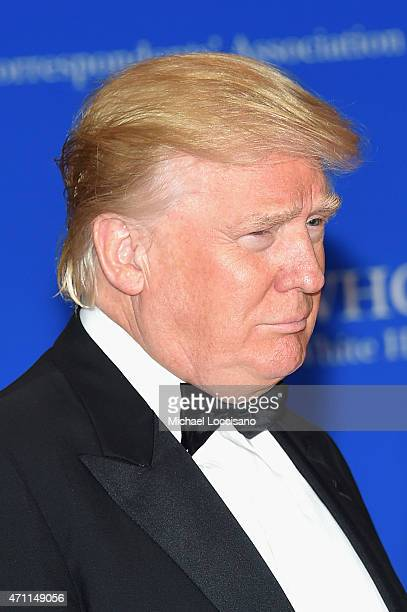 Donald Trump attends the 101st Annual White House Correspondents' Association Dinner at the Washington Hilton on April 25 2015 in Washington DC