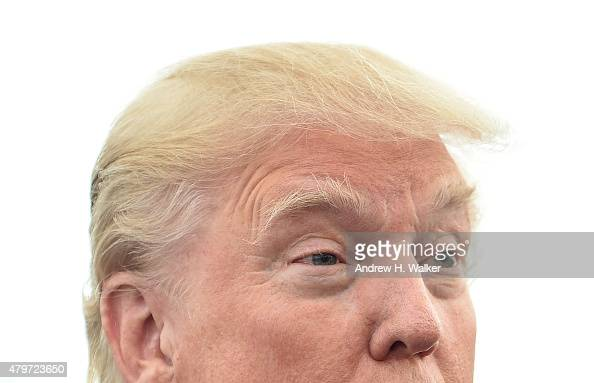 Donald Trump attends the 2015 Hank's Yanks Golf Classic at Trump Golf Links Ferry Point on July 6 2015 in New York City