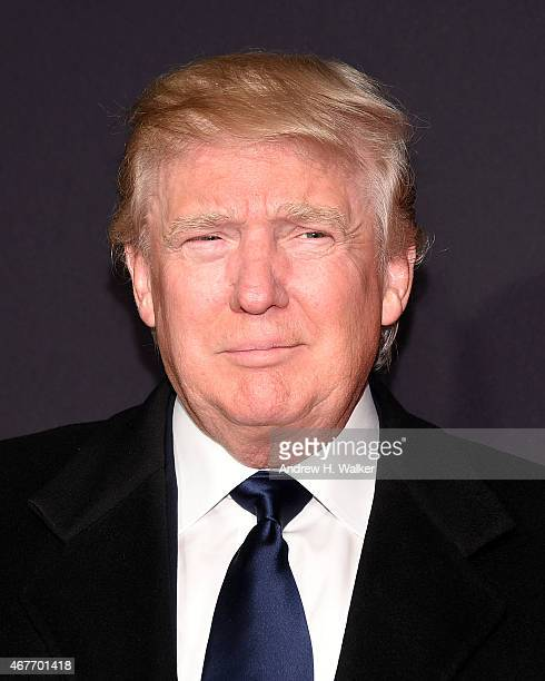 Donald Trump attends the 2015 New York Spring Spectacular Opening Night at Radio City Music Hall on March 26 2015 in New York City