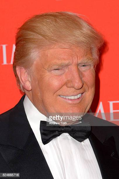 Donald Trump attends the 2016 Time 100 Gala at Frederick P Rose Hall Jazz at Lincoln Center on April 26 2016 in New York City