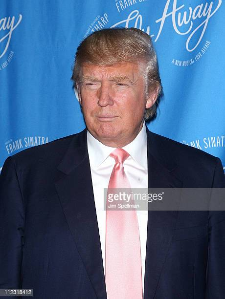 Donald Trump attends the Broadway opening of 'Come Fly Away' at the Marriot Marquis on March 25 2010 in New York City