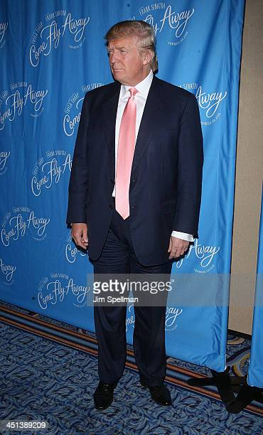 Donald Trump attends the Broadway opening of Come Fly Away at the Marriot Marquis on March 25 2010 in New York City