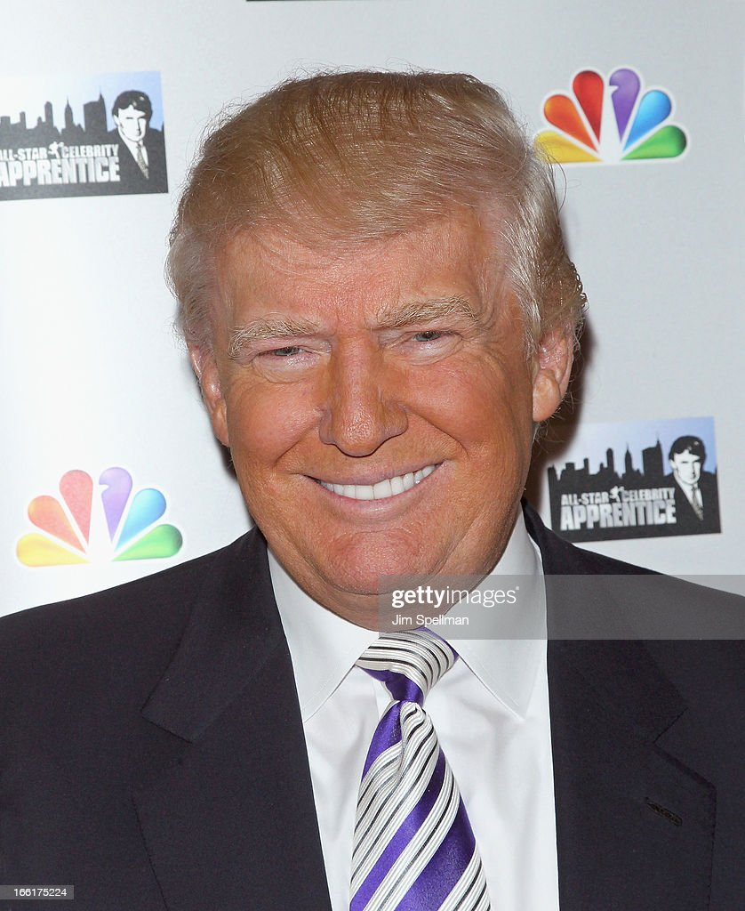 <a gi-track='captionPersonalityLinkClicked' href=/galleries/search?phrase=Donald+Trump+-+Born+1946&family=editorial&specificpeople=118600 ng-click='$event.stopPropagation()'>Donald Trump</a> attends the 'Celebrity Apprentice All-Star' event at Trump Tower on April 9, 2013 in New York City.