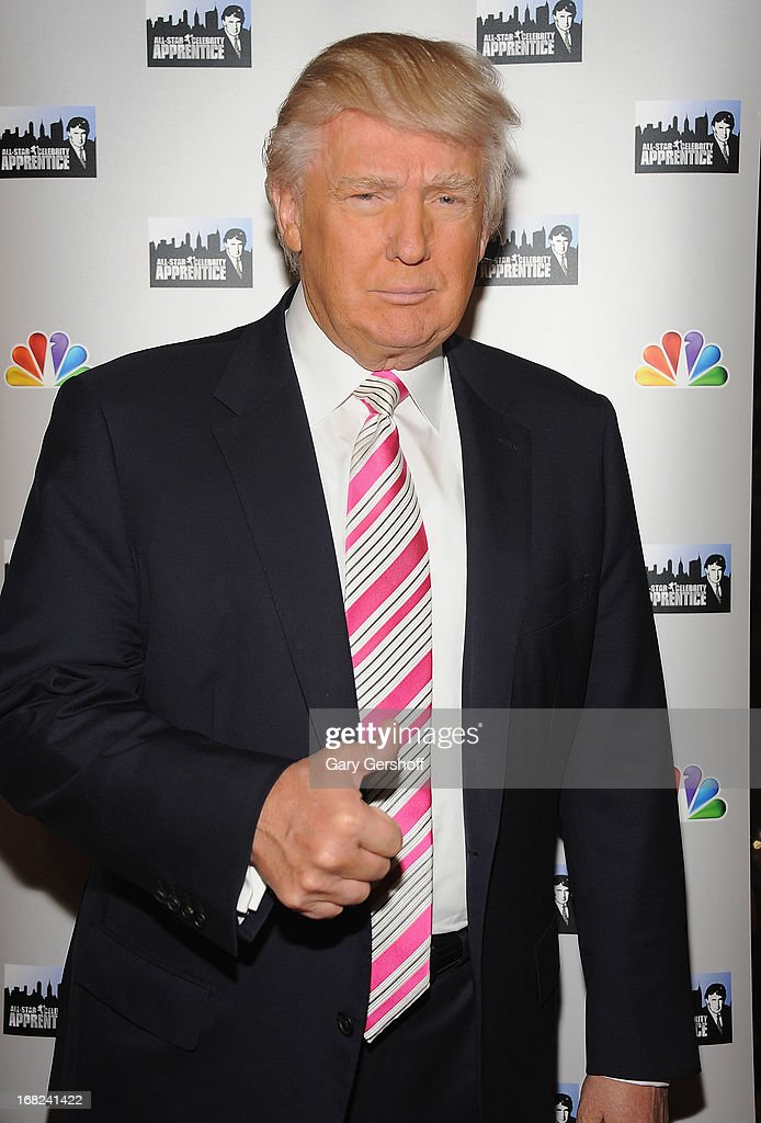 <a gi-track='captionPersonalityLinkClicked' href=/galleries/search?phrase=Donald+Trump+-+Born+1946&family=editorial&specificpeople=118600 ng-click='$event.stopPropagation()'>Donald Trump</a> attends 'The Celebrity Apprentice All-Stars' Red Carpet at Trump Tower on May 7, 2013 in New York City.