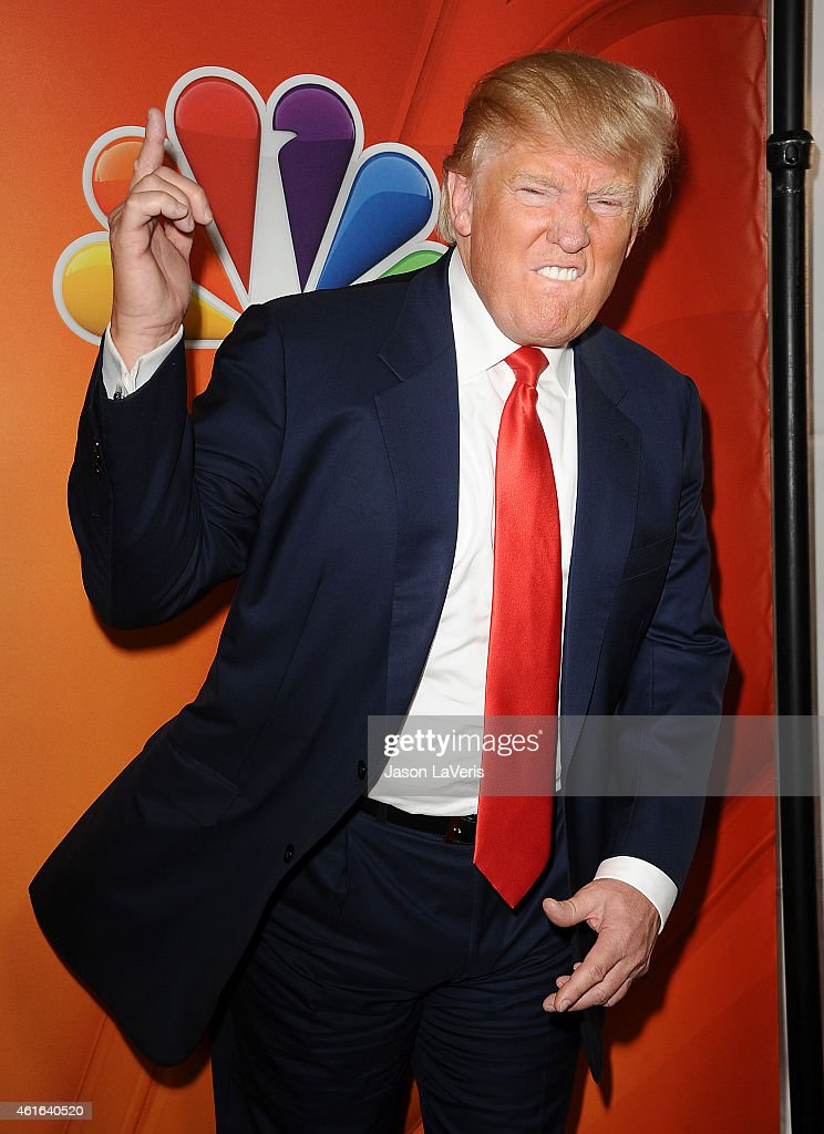 Donald Trump attends the NBCUniversal 2015 press tour at The Langham Huntington Hotel and Spa on January 16, 2015 in Pasadena, California.