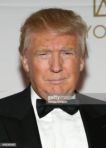 Donald Trump attends The New York Ball The 20th Anniversary Benefit For The European School Of Economics at Trump Tower on November 19 2014 in New...