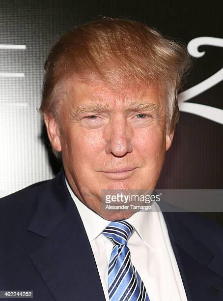 Donald Trump attends the Venue Magazine Official Miss Universe after party at Trump National Doral on January 25 2015 in Doral Florida
