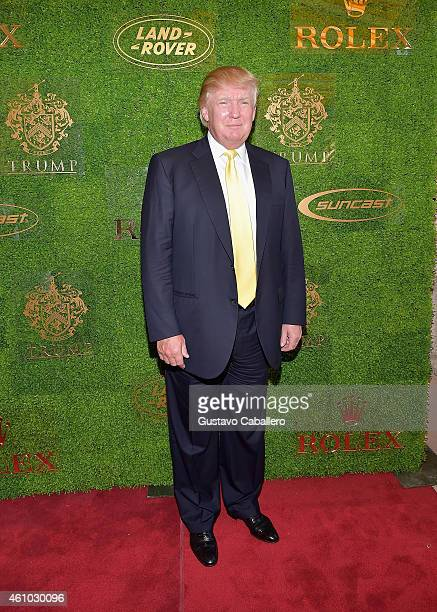 Donald Trump attends Trump Invitational Grand Prix MaraLago Club at The MaraLargo Club on January 4 2015 in Palm Beach Florida