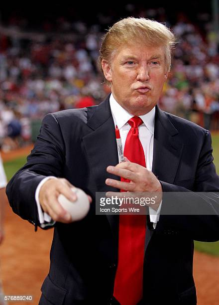 Donald Trump before the second game of the double header between the Yankees and the Boston Red Sox at Fenway Park in Boston Ma August 18 2006