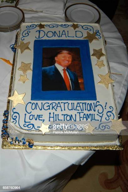 Donald Trump Cake attends Kathy and Rick Hilton's party for Donald Trump and 'The Apprentice' at the Hiltons' Home on February 28 2004 in Holmby...