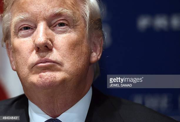 Donald Trump chairman and president of the Trump Organization and the founder of Trump Entertainment Resorts waits to speak at a National Press Club...