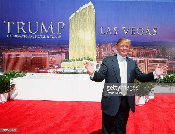 Donald Trump chairman and president of the Trump Organization poses after a ceremonial groundbreaking for the 64story Trump International Hotel Tower...