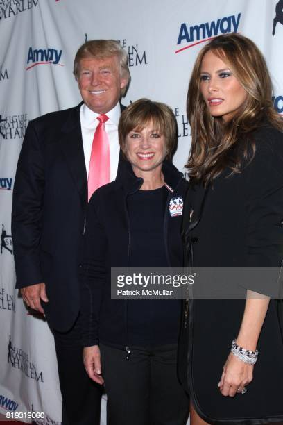 Donald Trump Dorothy Hamill and Melania Trump attend The 2010 SKATING WITH THE STARS A Benefit Gala for FIGURE SKATING IN HARLEM at Wollman Rink on...