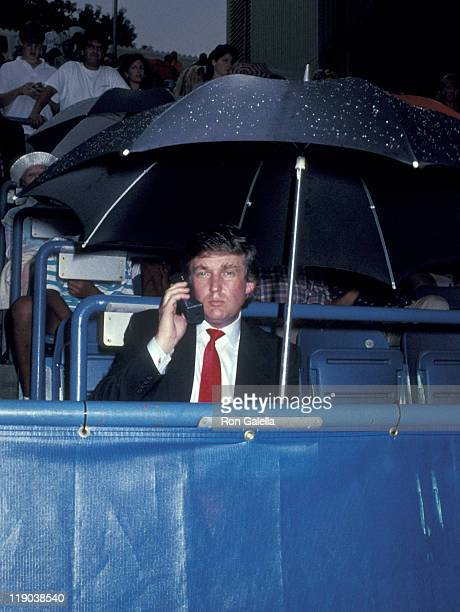 Donald Trump during 1989 US Open at Flushing Meadow Corona Park in Queens New York United States