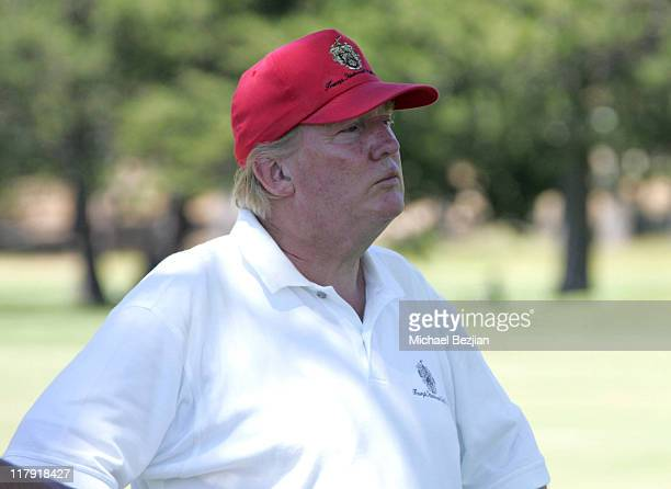Donald Trump during American Century Celebrity Golf Championship July 16 2006 at Edgewood Tahoe Golf Course in Lake Tahoe California United States