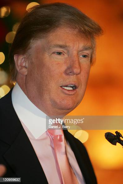 Donald Trump during Donald Trump Announces 'In Touch Weekly' Million Dollar Winner at Trump Towers in New York City New York United States
