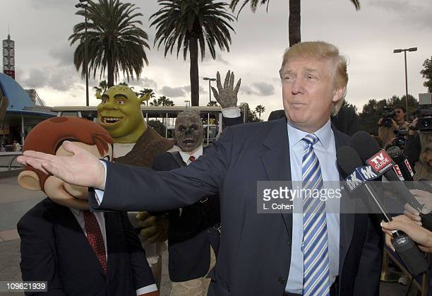 Donald Trump during Donald Trump Recruiting Search for the Next 'Apprentice' at Universal Studios Hollywood at Universal Studios in Los Angeles...