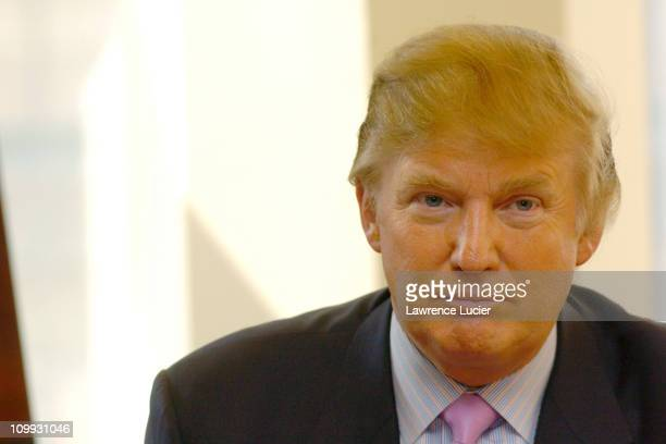Donald Trump during Donald Trump Signs His New Book How To Get Rich at Barnes Noble Lincoln Triangle in New York City New York United States