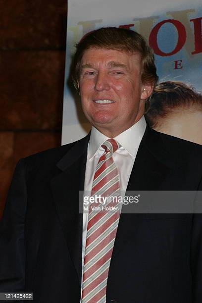 Donald Trump during Gloria Estefan press conference at Plaza Hotel in New York New York United States