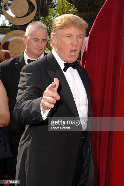 Donald Trump during The 57th Annual Emmy Awards Arrivals at Shrine Auditorium in Los Angeles California United States
