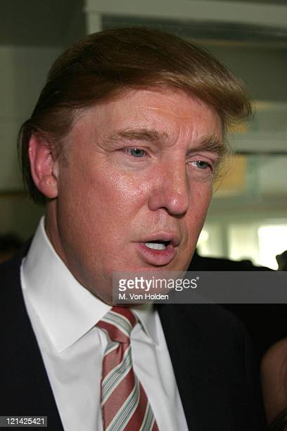 Donald Trump during unveiling of Carlo Beninati's artwork 'ARod' at Battery Gardens in New York New York United States