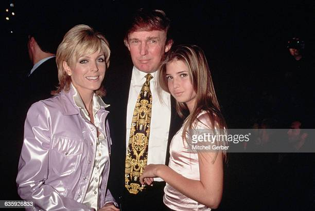 Donald Trump his wife Marla Maples and his daugther from his first marriage Ivanka