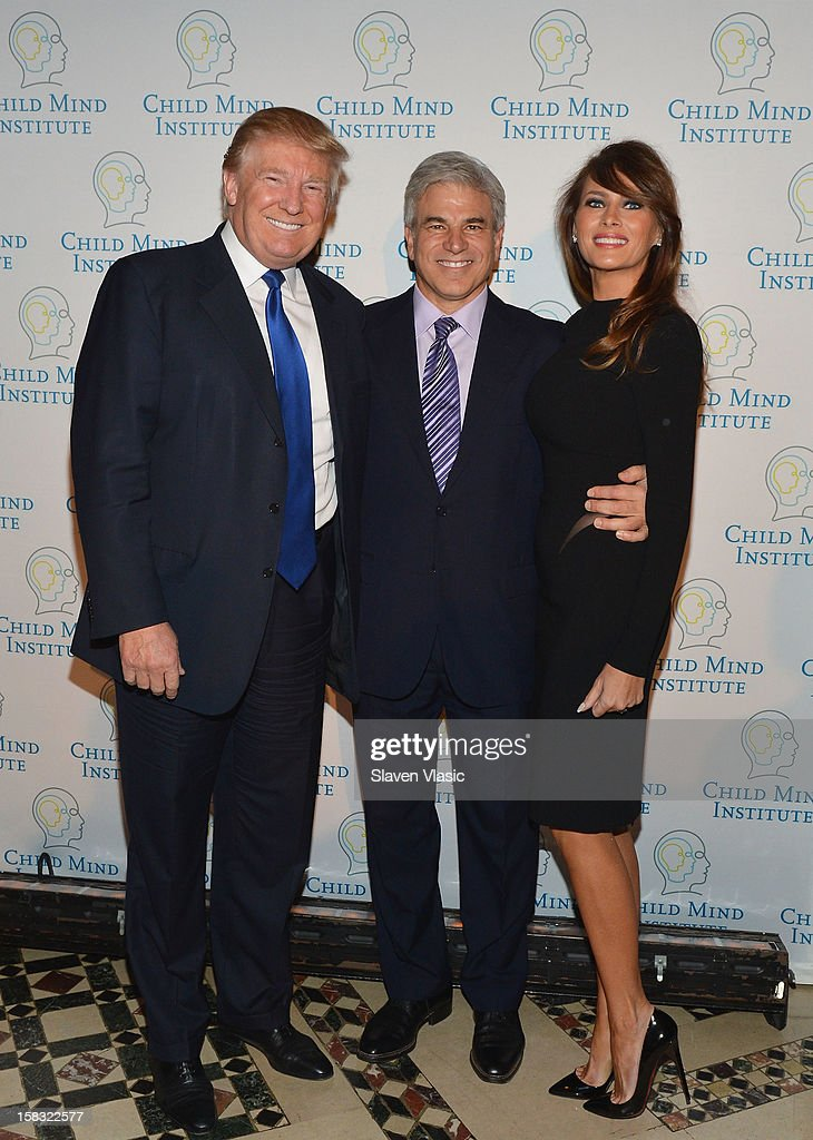 <a gi-track='captionPersonalityLinkClicked' href=/galleries/search?phrase=Donald+Trump+-+Born+1946&family=editorial&specificpeople=118600 ng-click='$event.stopPropagation()'>Donald Trump</a>, honore Michael D. Fascitelli and <a gi-track='captionPersonalityLinkClicked' href=/galleries/search?phrase=Melania+Trump&family=editorial&specificpeople=201777 ng-click='$event.stopPropagation()'>Melania Trump</a> attend Child Mind Institute's 3rd Annual Child Advocacy Award Dinner at Cipriani 42nd Street on December 12, 2012 in New York City.