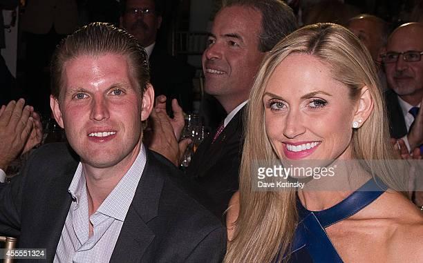Donald Trump Ivana Trump Eric Trump and Lara Yunaska attend The Eric Trump 8th Annual Golf Tournament at Trump National Golf Club Westchester on...